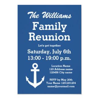 Convites de festas náuticos da reunião de família