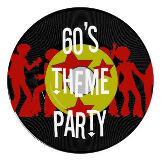 Convites de festas retros do tema dos anos 60