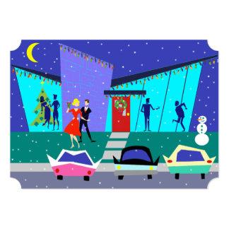 Convites de festas retros dos desenhos animados do convite 12.7 x 17.78cm