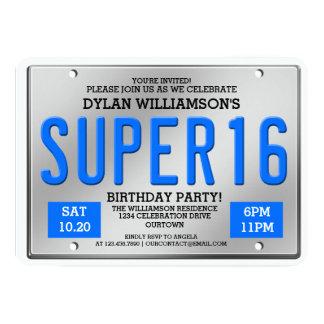 Convites de festas super da matrícula azul 16