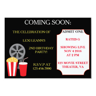Convites de festas temáticos do filme