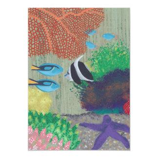 Convites de festas tropicais coloridos dos peixes
