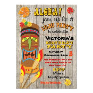 Convites de festas tropicais de Luau Tiki