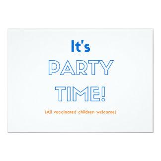 Convites de festas vacinados