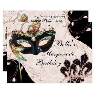 Convites de festas Venetian do mascarada da