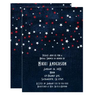 Convites de festas vermelhos da sarja de Nimes das