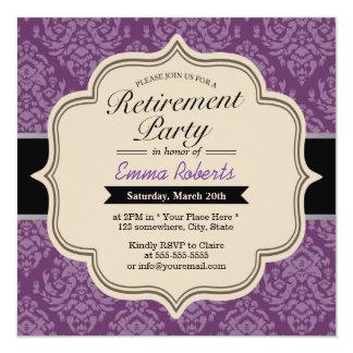 Convites de festas violetas elegantes da