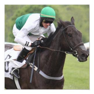 Convites de galope do cavalo de raça convite quadrado 13.35 x 13.35cm