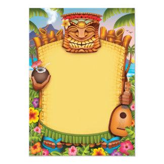 Convites de Luau, convites de festas havaianos Convite 12.7 X 17.78cm