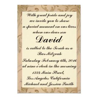 Convites de Mitzvah do bar das flores do