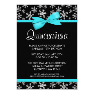 Convites de Quinceanera do inverno do arco da