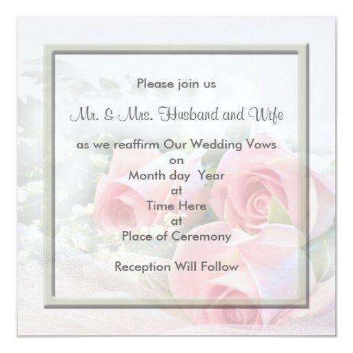 Convites de renovação dos votos de casamento