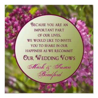Convites de renovação dos votos de casamento -