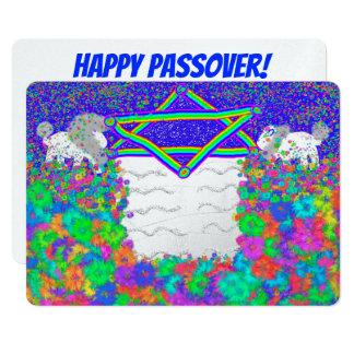 Convites de Seder Pesach do Passover do arco-íris