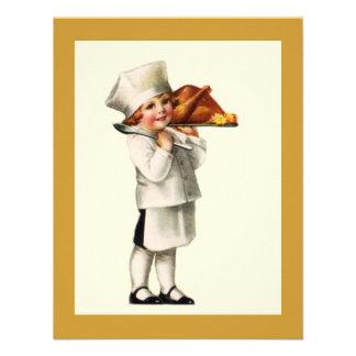 CONVITES de Turquia do cozinheiro chefe da criança