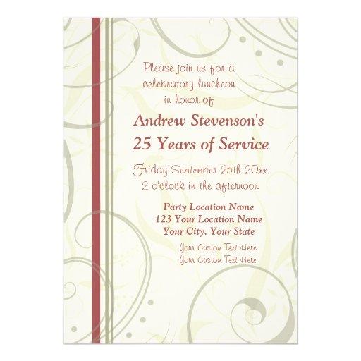 Convites do almoço do aniversário de Ermployee