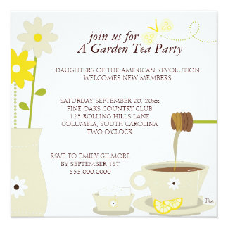 Convites do almoço do tea party do jardim