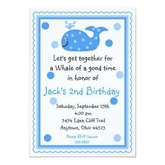 Convites do aniversário da baleia