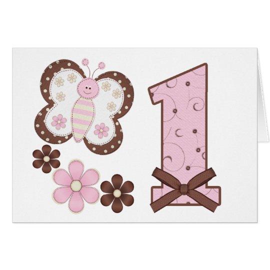 Convites do aniversário da borboleta cor-de-rosa cartão de nota