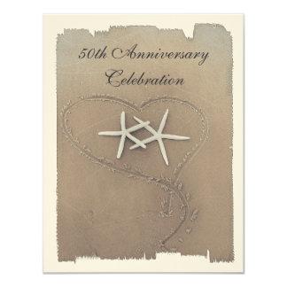 Convites do aniversário da estrela do mar