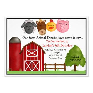 Convites do aniversário da fazenda