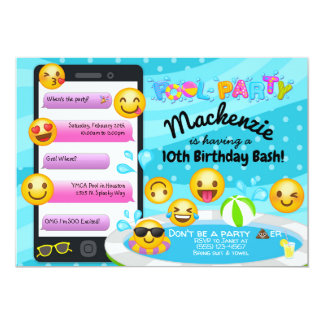 Convites do aniversário da festa na piscina de