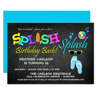 Convites do aniversário da festa na piscina do