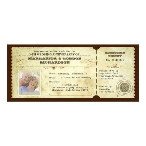 convites do aniversário da foto do bilhete do vint