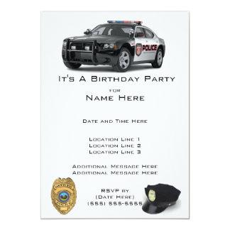 Convites do aniversário da polícia