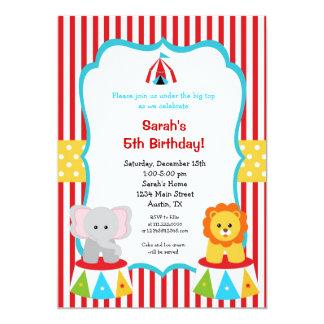 Convites do aniversário da tenda de circo do