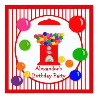 Convites do aniversário das crianças da máquina de