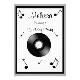 Convites do aniversário das notas musicais