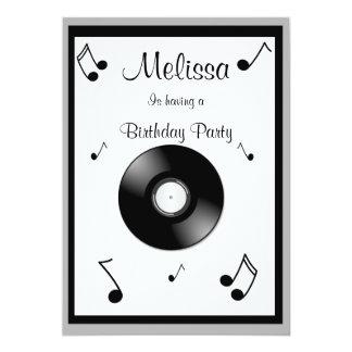 Convites do aniversário das notas musicais convite 12.7 x 17.78cm