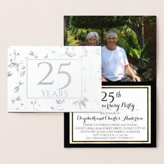 Convites do aniversário de casamento da folha de