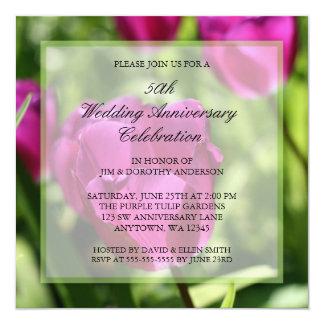 Convites do aniversário de casamento das tulipas
