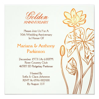 convites do aniversário de casamento dourado