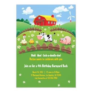 Convites do aniversário de criança da fazenda do
