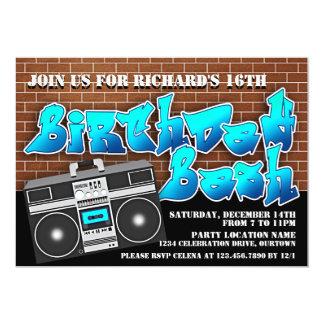 Convites do aniversário de Hip Hop da velha escola