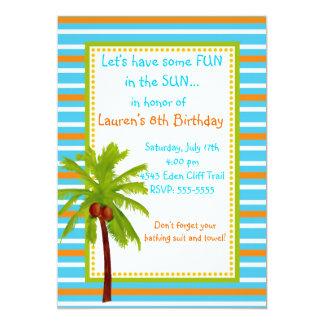 Convites do aniversário de Luau