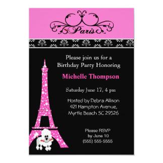 Convites do aniversário de Paris France da torre