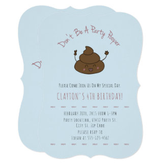 Convites do aniversário de Pooper do partido