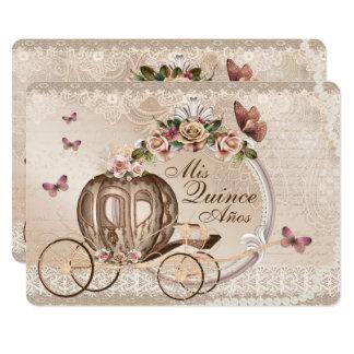 Convites do aniversário de Quinceanera do doce