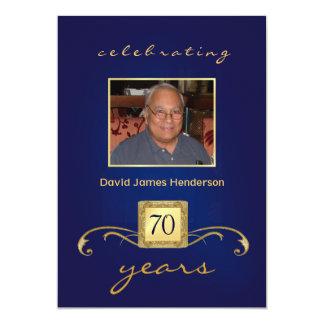 convites do aniversário do 70 - monograma & foto