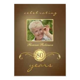 convites do aniversário do 80 - monograma antigo