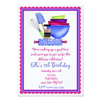 Convites do aniversário do cozinhar da cozinha