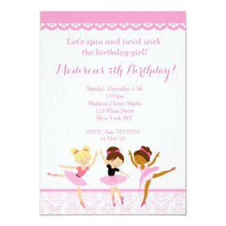 Convites do aniversário do dançarino da bailarina