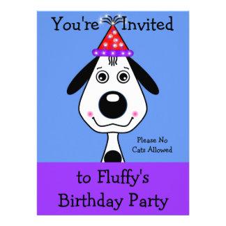 Convites do aniversário do filhote de cachorro