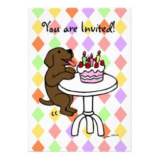 Convites do aniversário do filhote de cachorro do
