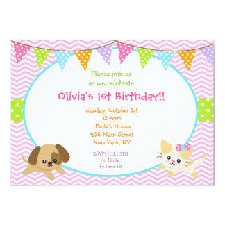 Convites do aniversário do filhote de cachorro e