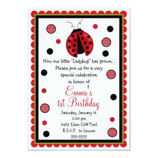 Convites do aniversário do joaninha